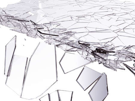 cracked glass: Splitted or cracked glass on white. Large resolution
