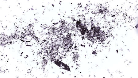 cracked glass: Shattered and cracked glass on white background. Large resolution