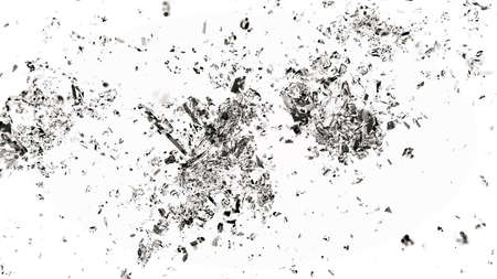 cracked glass: Sharp Pieces of splitted or cracked glass on white. Large resolution