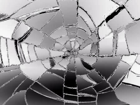 shattered: Glass Broken or Shattered on black. Large resolution