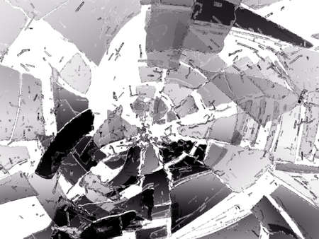 destructed: Pieces of Destructed glass on white. Large resolution