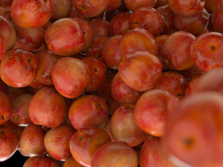 Many Red ripe apples. high resolution 3d render Stock Photo