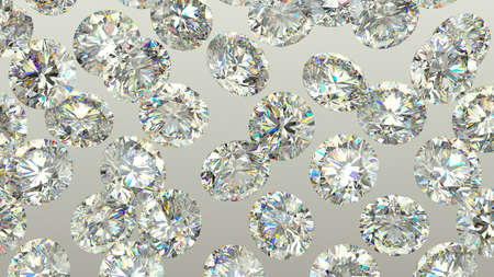 gems: Sparkling large Diamonds or gems over grey background. high resolution Stock Photo