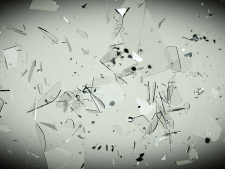 cracked: Pieces of splitted or cracked glass high resolution Stock Photo