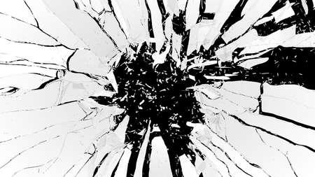shattered: Shattered glass: sharp Pieces over black background