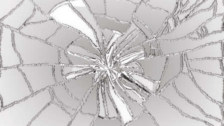shattered: Cracked or Shattered glass on white. high resolution Stock Photo