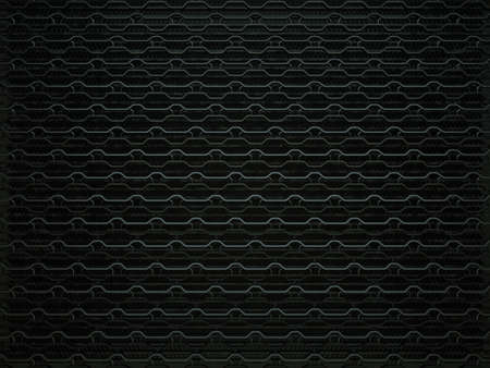 aluminium texture: Car grille background or texture. Wavy Pattern, Metallic black Aluminium Material and Reflections. 3d rendering, 3d illustration