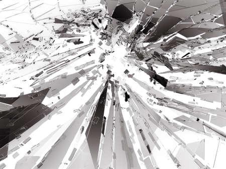 shattered: Bullet hole Cracked and Shattered glass . 3d rendering 3d illustration