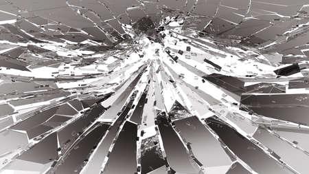 deflated: Damaged or broken glass on white. 3d rendering 3d illustration Stock Photo