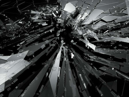 bullet hole: Bullet hole Cracked and Shattered glass . 3d rendering 3d illustration
