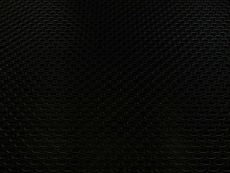 Primer plano de motor de auto parrilla del radiador fondo industial o textura. Material metálico de aluminio negro y reflexiones. Representación 3d, 3d ilustración