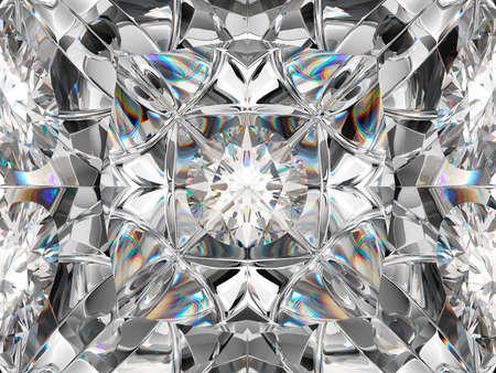 Pierres précieuses macro agrandi avec effet kaléidoscope. vue de dessus des pierres rondes rendu 3d, illustration 3d Banque d'images - 90084846