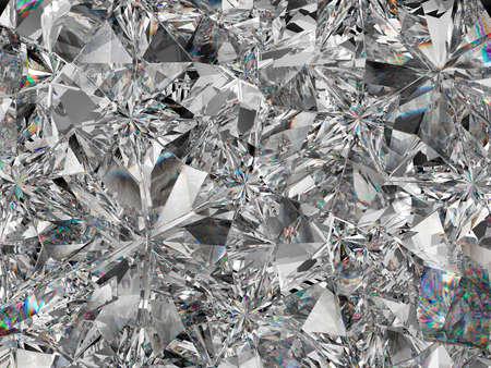 sparkling gemstone macro and kaleidoscope. top view of round gemstone 3d render, 3d illustration