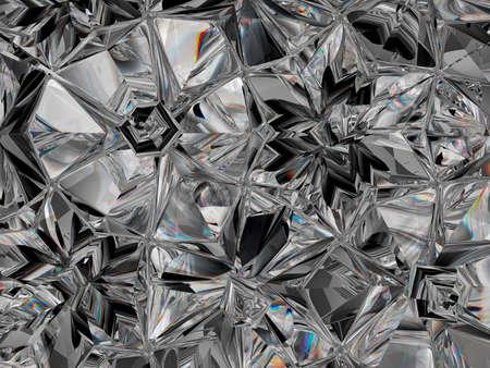 precious diamond structure extreme closeup kaleidoscope. top view of round gemstone 3d render, 3d illustration