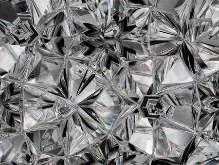 Precious Gemstone closeup texture and kaleidoscope. top view of round gemstone 3d render, 3d illustration Stock Photo