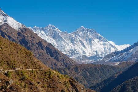Everest, Lhotse and Ama Dablam summits. Everest base camp trek in Nepal