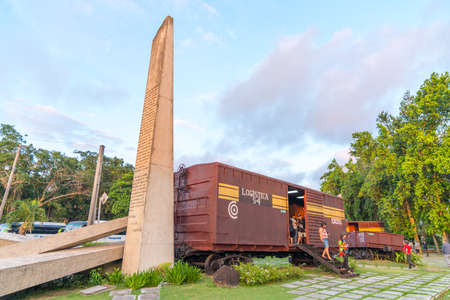 Armoured Train or Tren Blindado national monument and museum of Cuban Revolution in Santa Clara, Cuba. Created in memory of the events of the Battle of Santa Clara. Captured in Spring 2018 Editorial