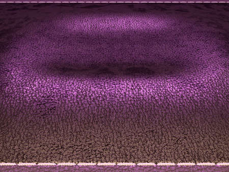 Leather stitched texture or background purple and brown with bumps. 3d render, 3d illustration
