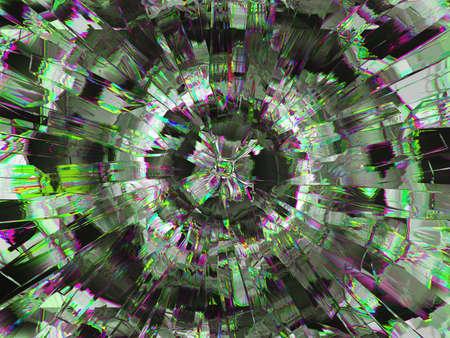 Gemstone or diamond texture closeup and kaleidoscope. 3d render, 3d illustration