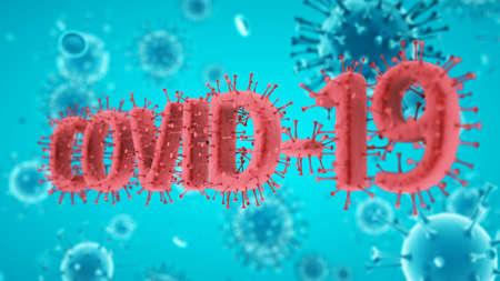 Covid-19 Coronavirus SARS-CoV-2 cell pandemic virus. 3d render, 3d illustration