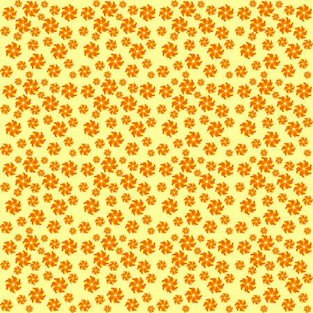 texture of yellow-orange flowers,randomly scattered flowers Illustration