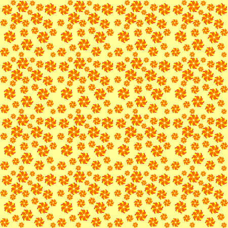 aciculum: texture of yellow-orange flowers,randomly scattered flowers Illustration