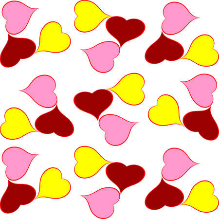 colorful design background of hearts,festive background of hearts Illustration