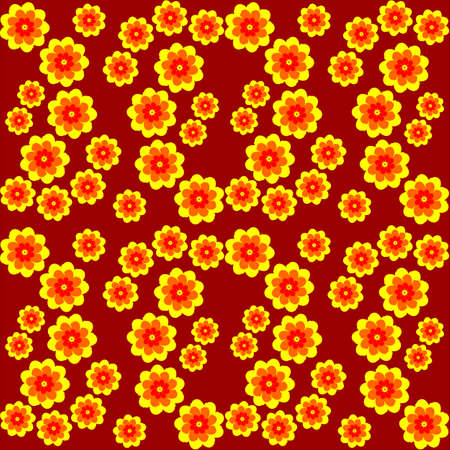 texture of yellow-orange flowers in a chaotic manner,beautiful summer flowers on a background
