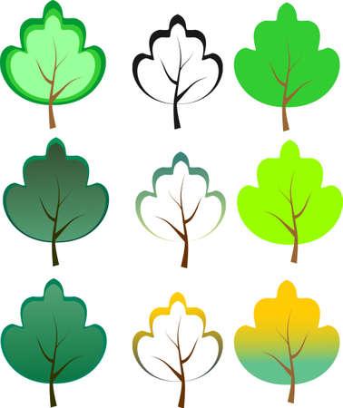 Abstract tree icon tree, spring, summer, autumn, foliage Illustration