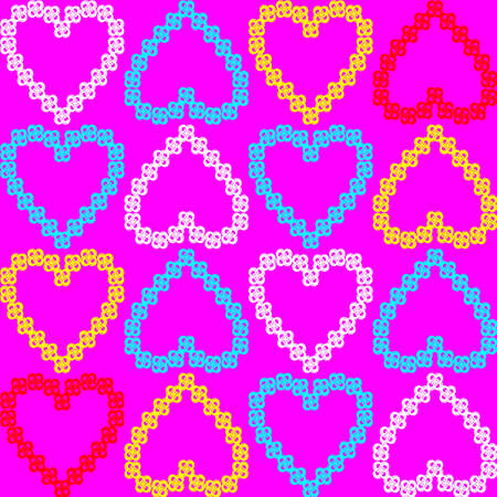 background with hearts on Valentine