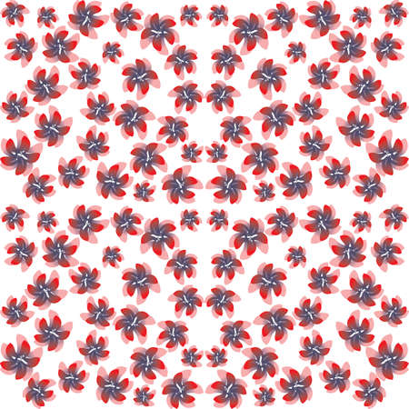 pink and red flowers on a white background. seamless texture, vector Illustration