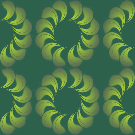 Seamless background from light green to dark green color. Flowers of the sheets. Vector illustration Vector
