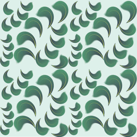 Seamless background of green petals. Vector illustration Vector