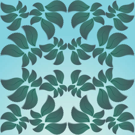 background petals in the form of the jungle, the vector