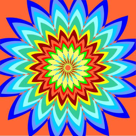 colorful flower for a background. Vector illustrations. Design Element