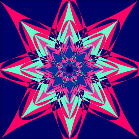 Flower background of geometric shapes. Various geometric shapes in a chaotic manner.Vector illustrations.