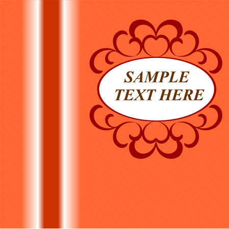 Vector card. Old paper, stripes and spots. Place for your text. Suitable for greetings, invitations or announcements.