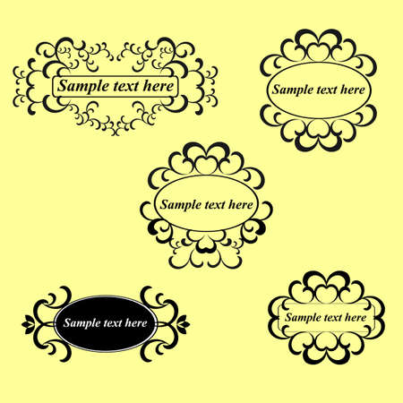 calligraphic design elements and page decorationlots of useful elements to embellish your layout Illustration