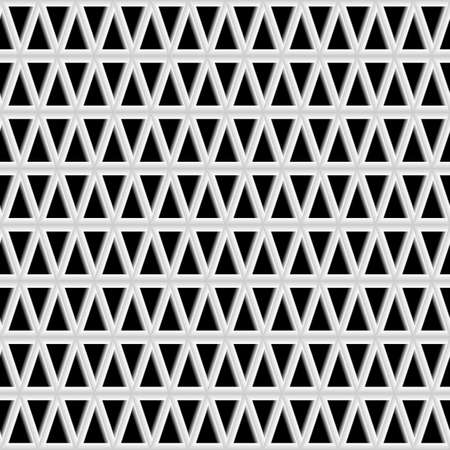 ply grid of triangles, three-dimensional structure of the grid. Vector illustrations