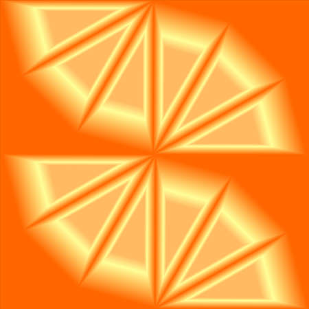 the visual effect of 3D on an orange background. Vector illustrations
