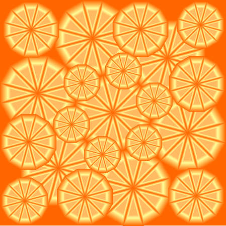 texture of slices of orange in 3d. Vector illustrations Illustration