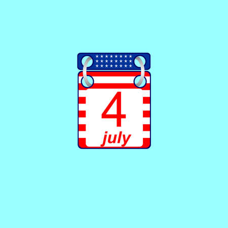Calendar icon on the U.S. Independence Day Vector
