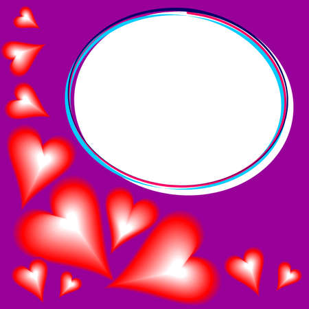 volume of the heart on a purple background space for text