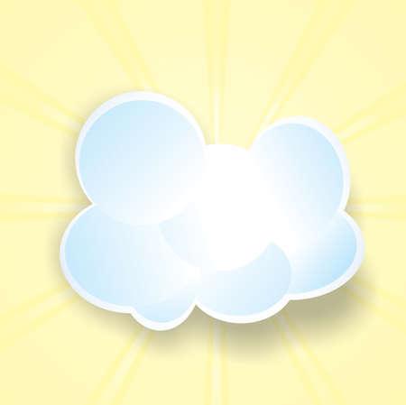 blue cloud, the sun Illustration