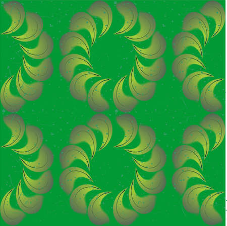 Seamless background from light green to dark green color.