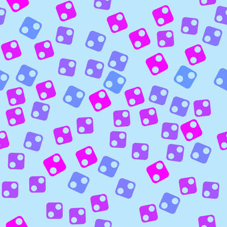 colorful cubes with holes in chaotic order Vector