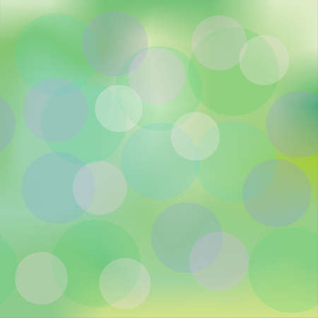 iridescent green background and colorful translucent circles. EPS 10