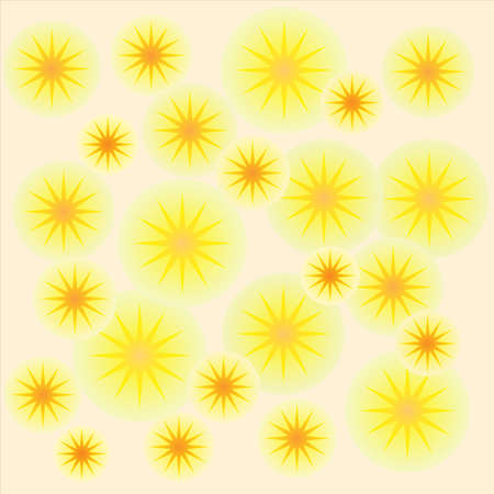 wallpaper with yellow circles and orange stars