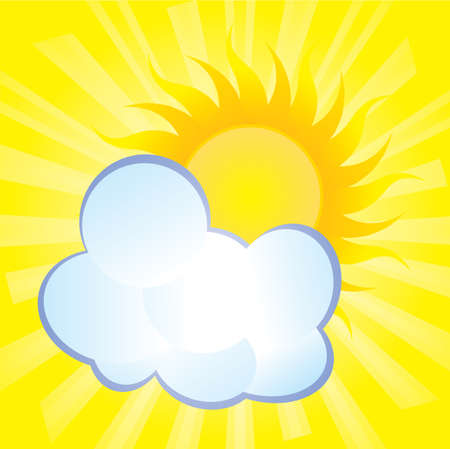 abstract background, fluffy cloud covers the sun