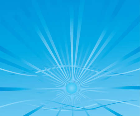 abstract background with blue radiant sun Vector